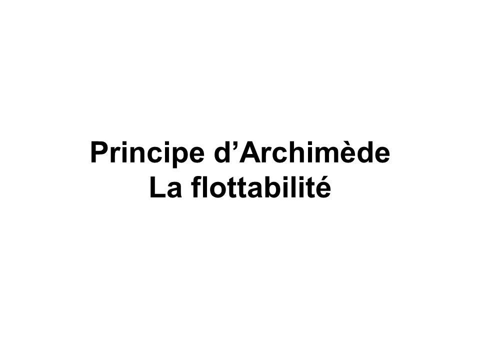 Quatre « lois » physiques : Archimède (flottabilité) rappel sur la pression Mariotte (compressibilité des gaz) Henry (dissolution des gaz) Dalton (pre