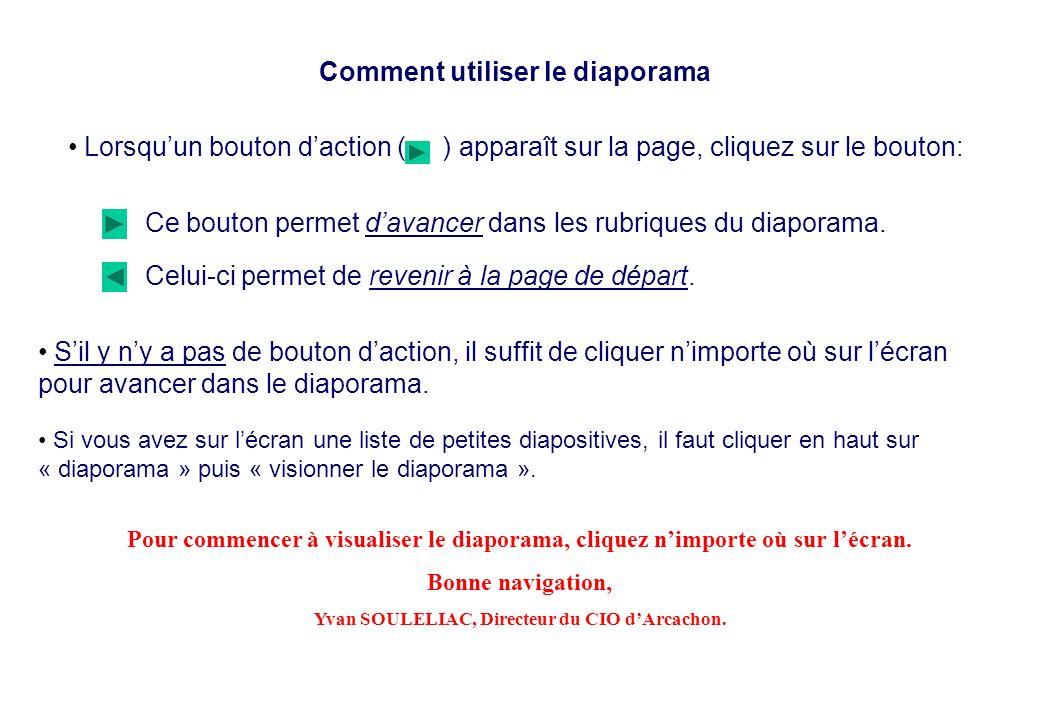 Comment utiliser le diaporama Lorsquun bouton daction ( ) apparaît sur la page, cliquez sur le bouton: Ce bouton permet davancer dans les rubriques du diaporama.