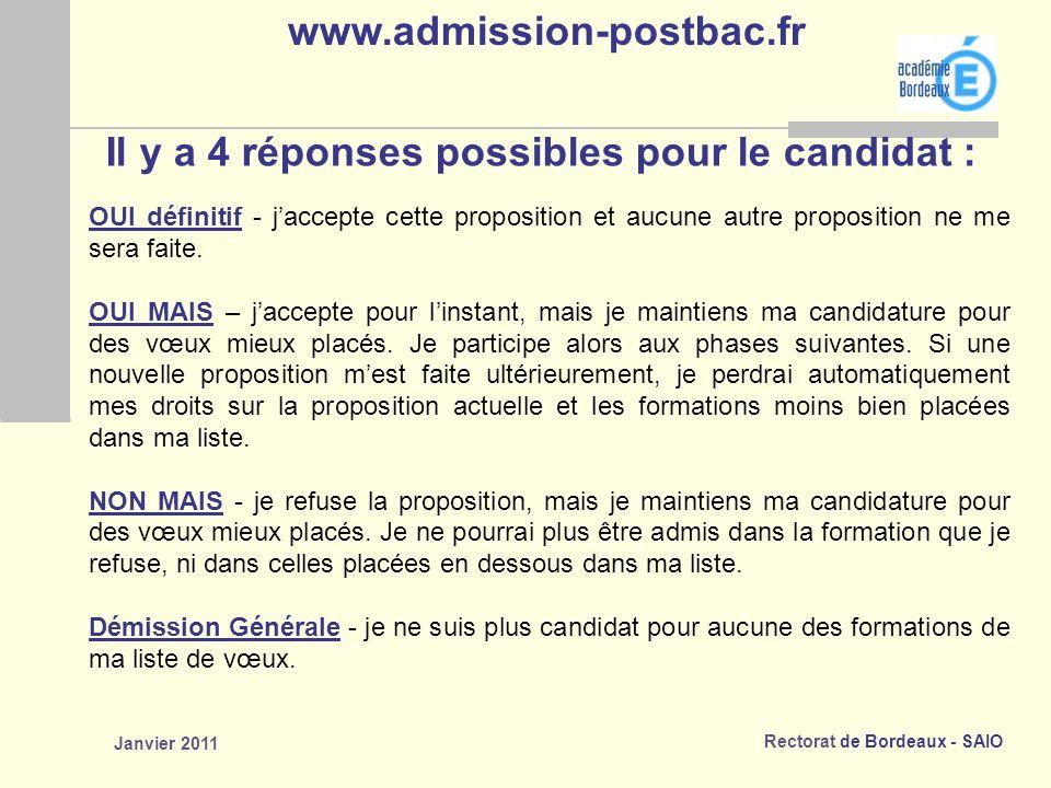 Rectorat de Bordeaux - SAIO Janvier 2011 OUI définitif - jaccepte cette proposition et aucune autre proposition ne me sera faite.