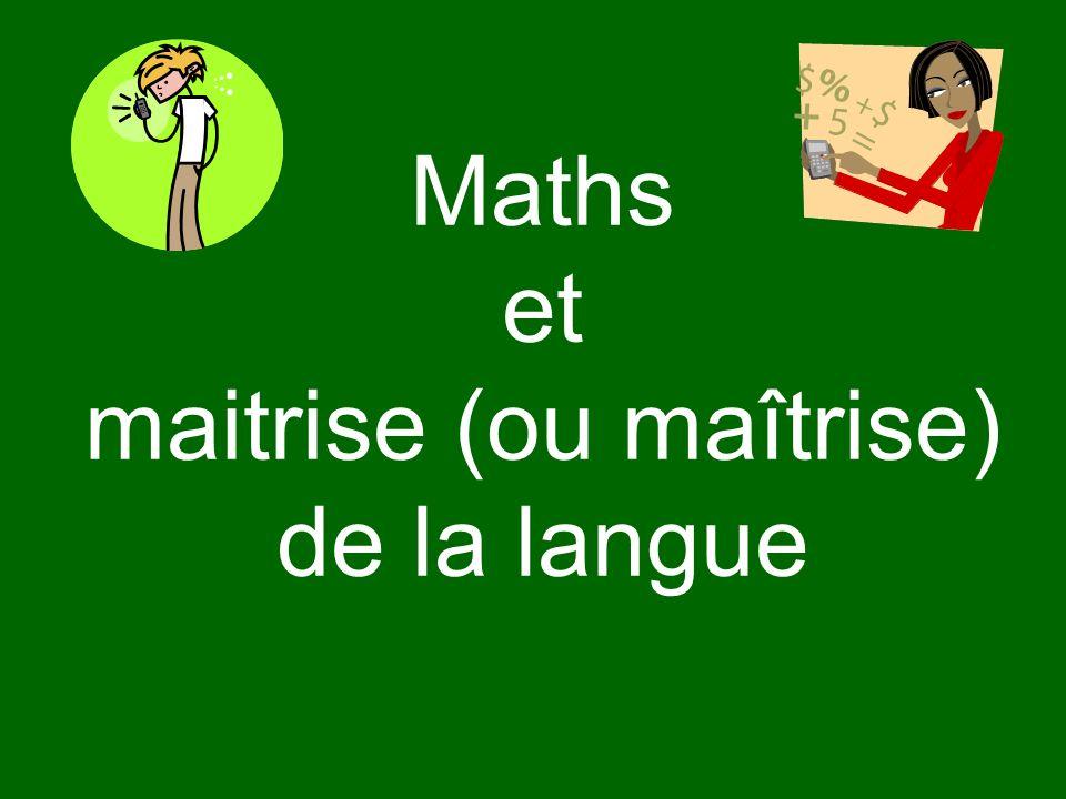 La spécificité des maths