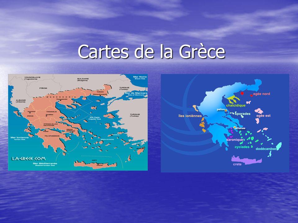 Cartes de la Grèce
