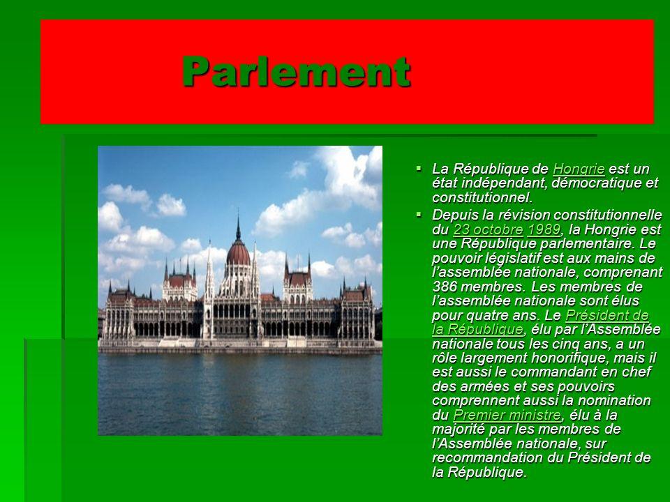 Parlement La République de Hongrie est un état indépendant, démocratique et constitutionnel. La République de Hongrie est un état indépendant, démocra