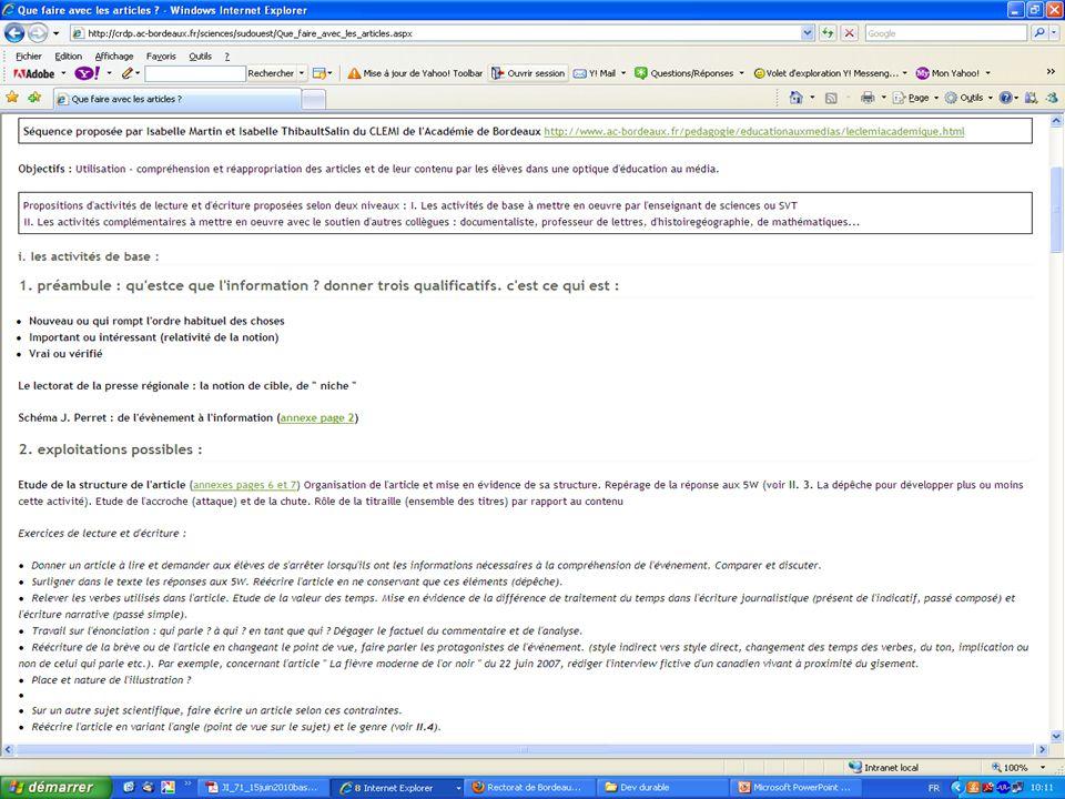 En savoir plus… Contacter le Centre de Liaison de lEnseignement et des Médias dInformation : Mel : clemi@ac-bordeaux.frclemi@ac-bordeaux.fr Site : http://www.ac- bordeaux.fr/pedagogie/education-aux- medias-clemi.html http://www.ac- bordeaux.fr/pedagogie/education-aux- medias-clemi.html
