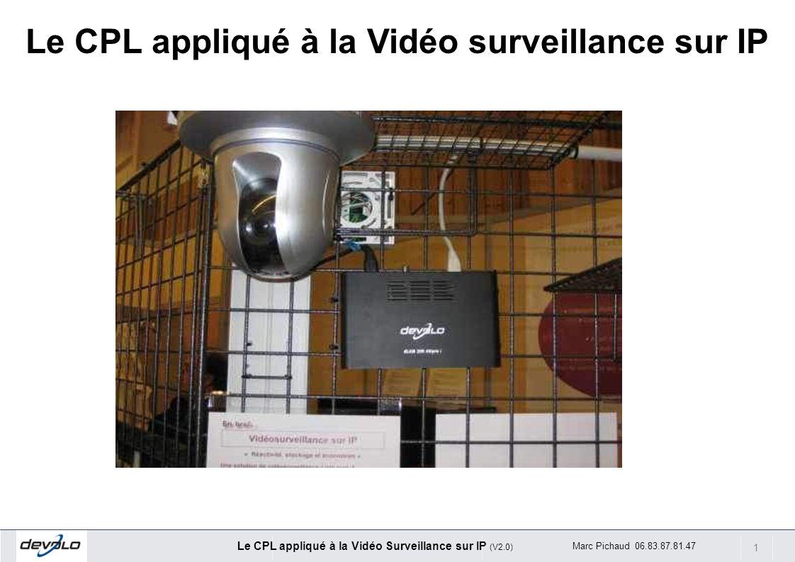 1 Le CPL appliqué à la Vidéo Surveillance sur IP (V2.0) Marc Pichaud 06.83.87.81.47 Le CPL appliqué à la Vidéo surveillance sur IP
