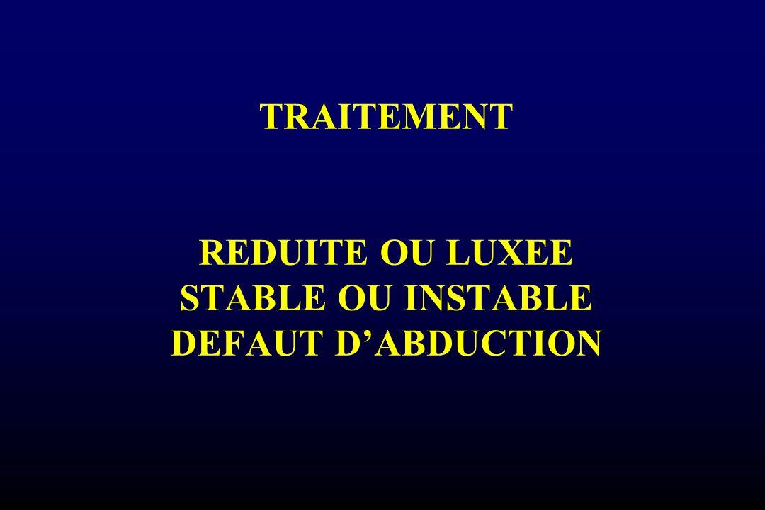 TRAITEMENT REDUITE OU LUXEE STABLE OU INSTABLE DEFAUT DABDUCTION