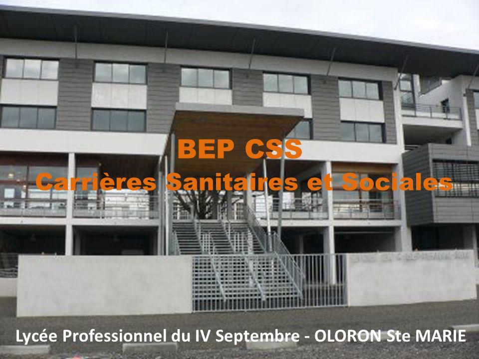 Lycée Professionnel du IV Septembre - OLORON Ste MARIE BEP CSS Carrières Sanitaires et Sociales