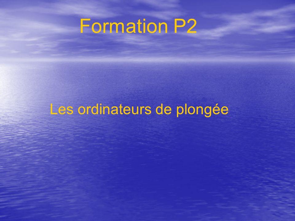 Les ordinateurs de plongée Formation P2