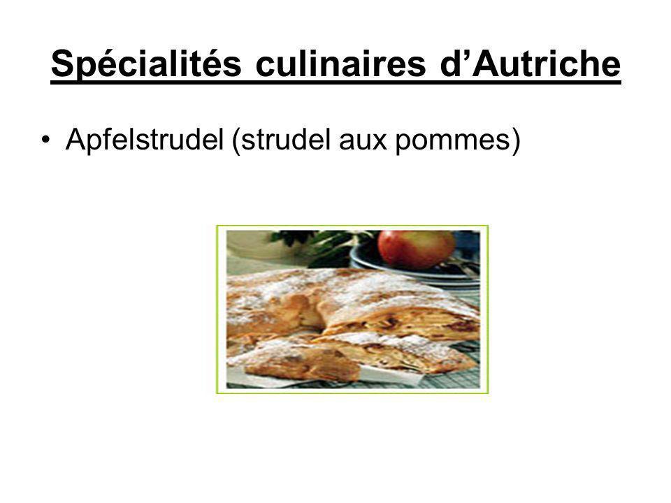 Spécialités culinaires dAutriche Apfelstrudel (strudel aux pommes)