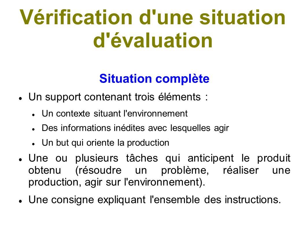 Les critères d évaluation Un critère est un regard que l on porte sur l objet évalué, il correspond à une qualité de cet objet.