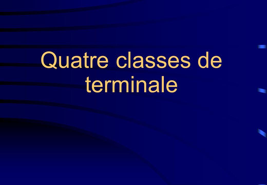 Quatre classes de terminale