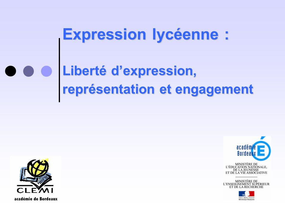 Expression lycéenne : Liberté dexpression, représentation et engagement
