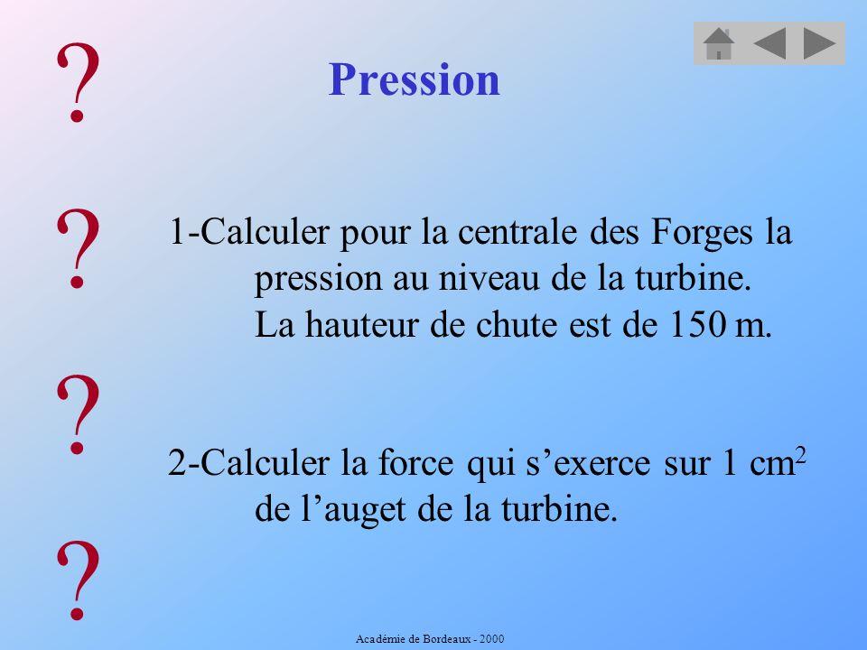 Pression Dans ce récipient, on constate que leau est à la même hauteur dans les tubes B et C. Quand on met de leau sous pression en A, leau remonte le
