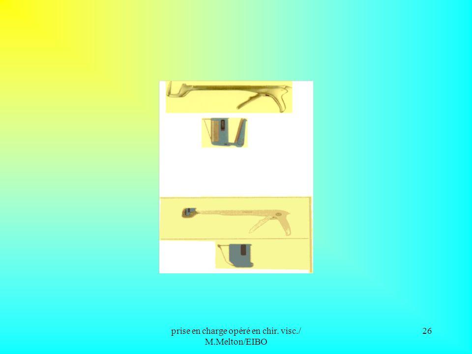prise en charge opéré en chir. visc./ M.Melton/EIBO 25 Matériel à usage unique Pinces à suture mécanique: pinces linéaires coupantes pinces linéaires