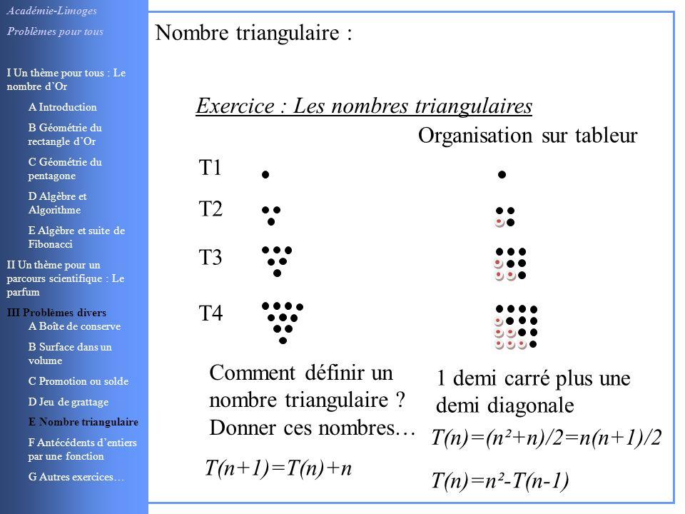 1 demi carré plus une demi diagonale Académie-Limoges Problèmes pour tous I Un thème pour tous : Le nombre dOr A Introduction B Géométrie du rectangle