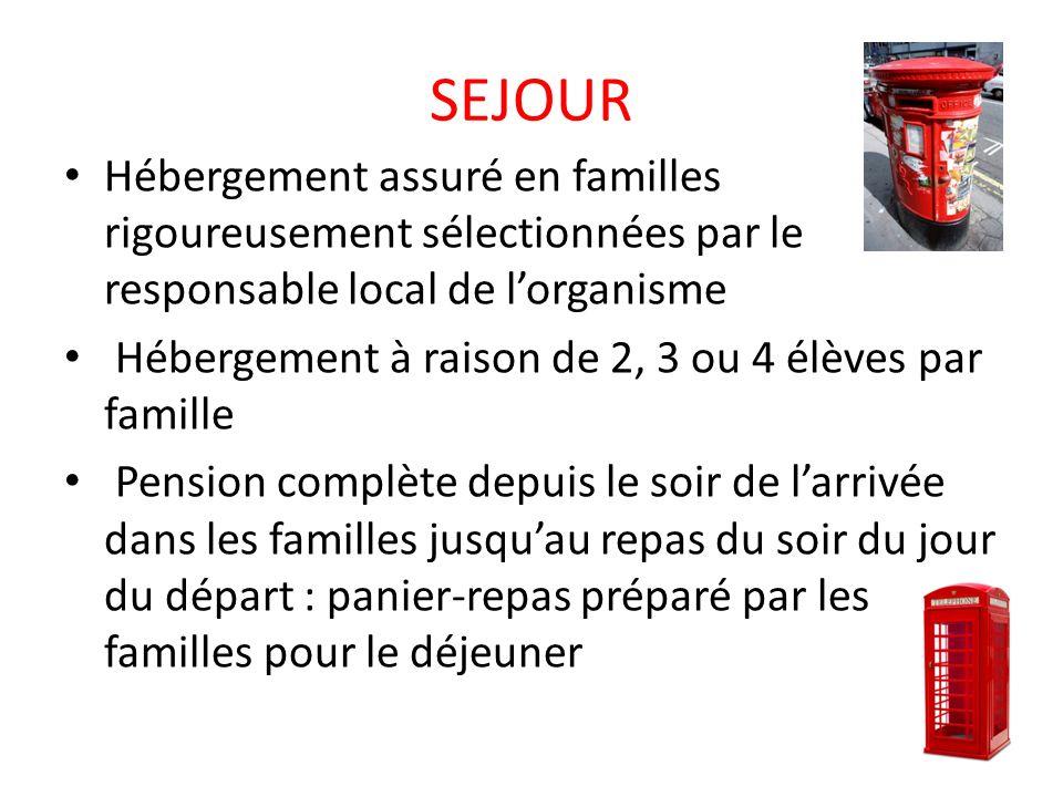 PROGRAMME LUNDI 12/04 VOYAGE ALLER: Départ de létablissement en car de tourisme dans la soirée: les enfants auront dîné.