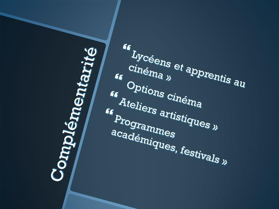 Complémentarité Lycéens et apprentis au cinéma » Lycéens et apprentis au cinéma » Options cinéma Options cinéma Ateliers artistiques » Ateliers artist