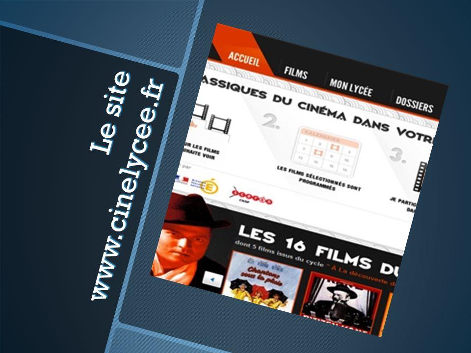 Le site www.cinelycee.fr