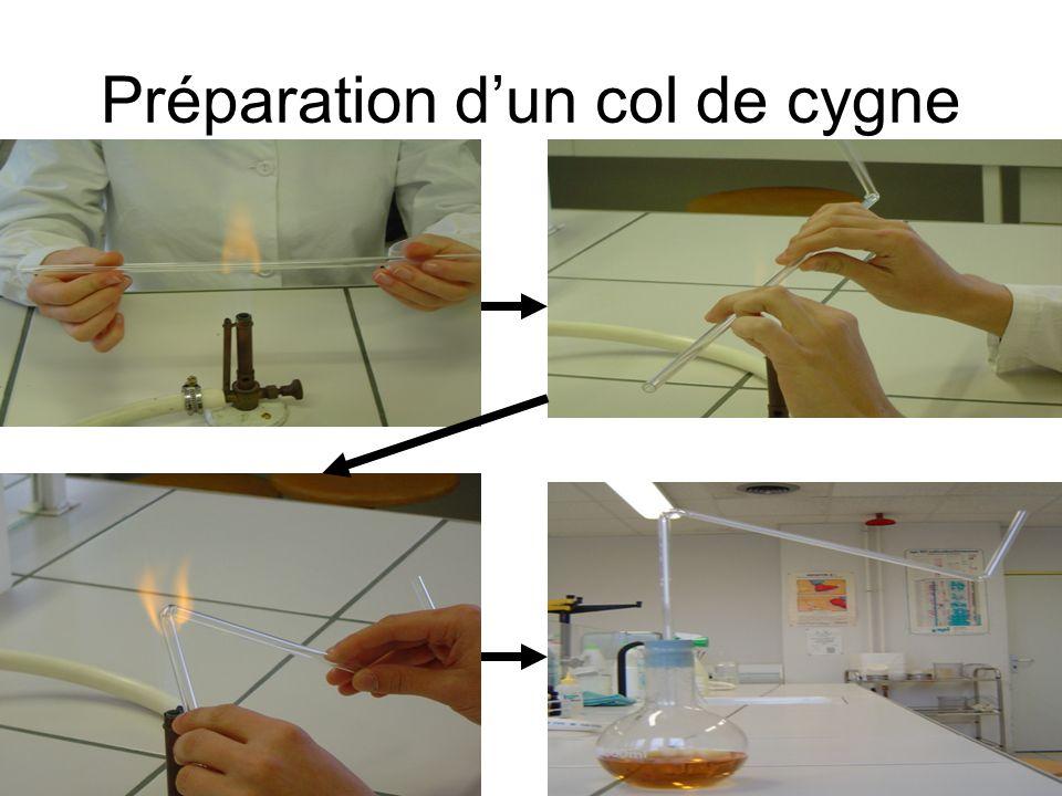 Préparation dun col de cygne
