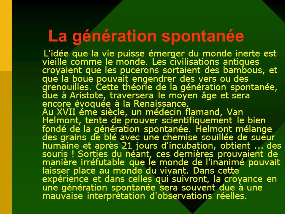 Les expériences de John Needham : grand défenseur de la génération spontanée..