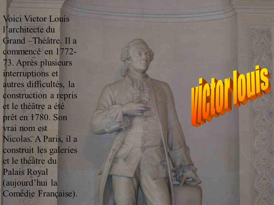 Voici le Grand Théâtre de Bordeaux ! CM2 – Ecole Arnaud Lafon de Mérignac