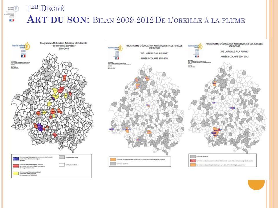 1 ER D EGRÉ A RT DU SON : B ILAN 2009-2012 D E L OREILLE À LA PLUME
