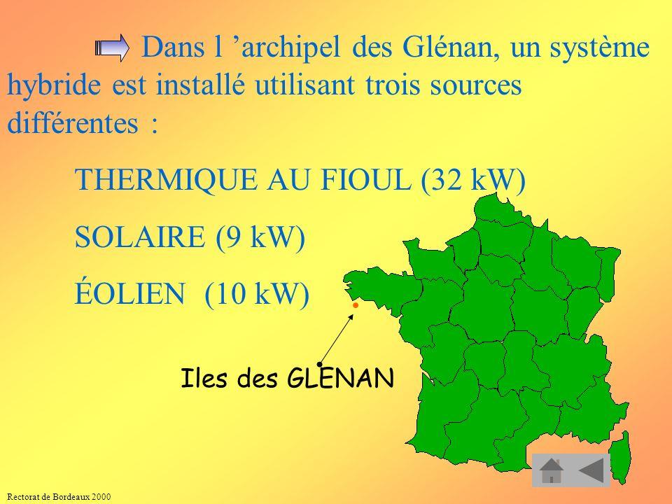 Rectorat de Bordeaux 2000 Site isolé en AFRIQUE LES RÉGIONS ENSOLEILLÉES et non raccordées au réseau (pays en voie de développement, Dom-Tom) et des h