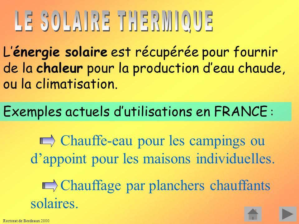 Rectorat de Bordeaux 2000 Dans l archipel des Glénan, un système hybride est installé utilisant trois sources différentes : THERMIQUE AU FIOUL (32 kW)