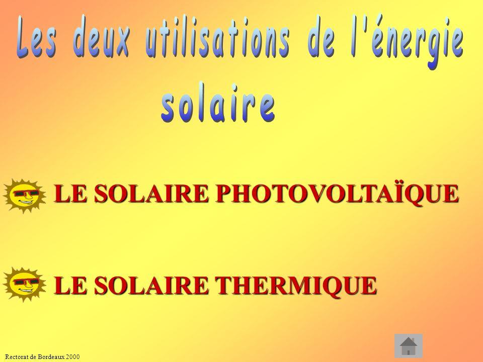 LE SOLAIRE PHOTOVOLTAÏQUE LE SOLAIRE THERMIQUE