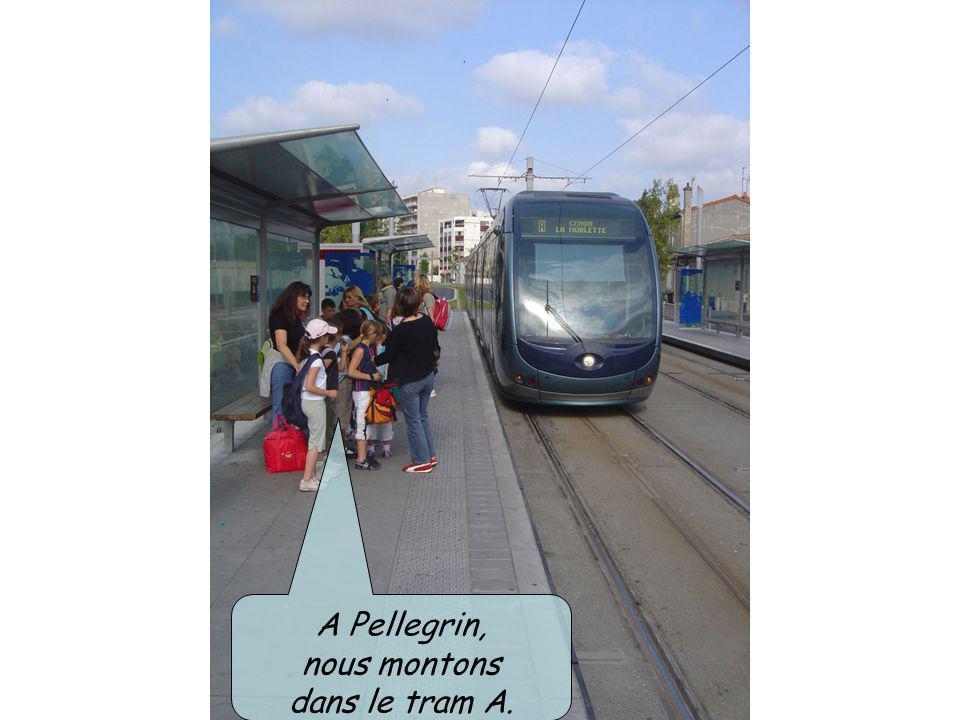 A Pellegrin, nous montons dans le tram A.