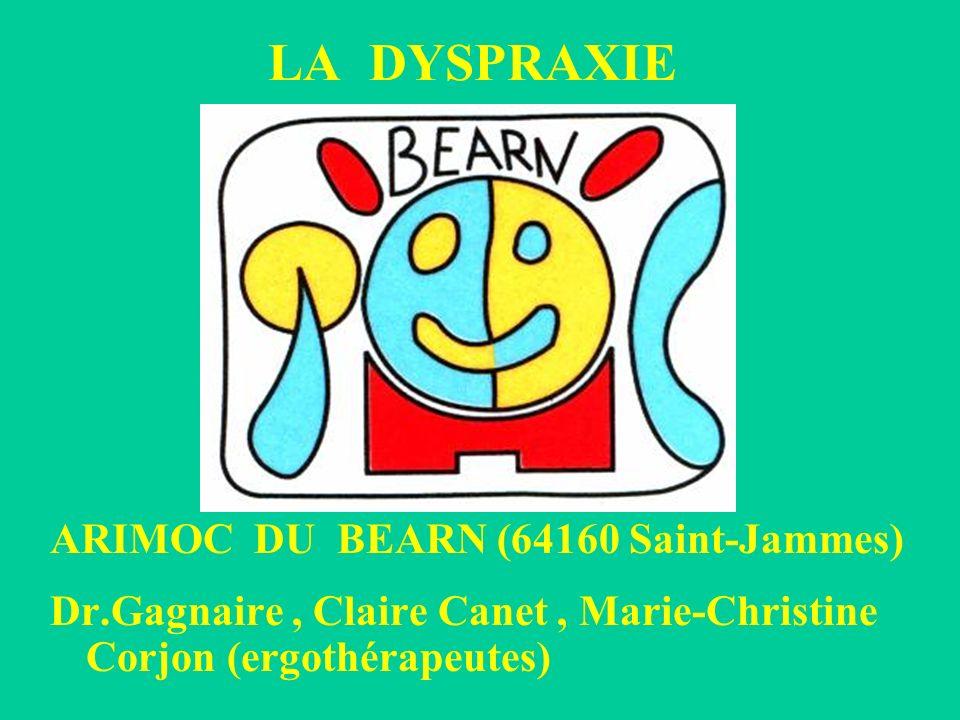 LA DYSPRAXIE ARIMOC DU BEARN (64160 Saint-Jammes) Dr.Gagnaire, Claire Canet, Marie-Christine Corjon (ergothérapeutes)