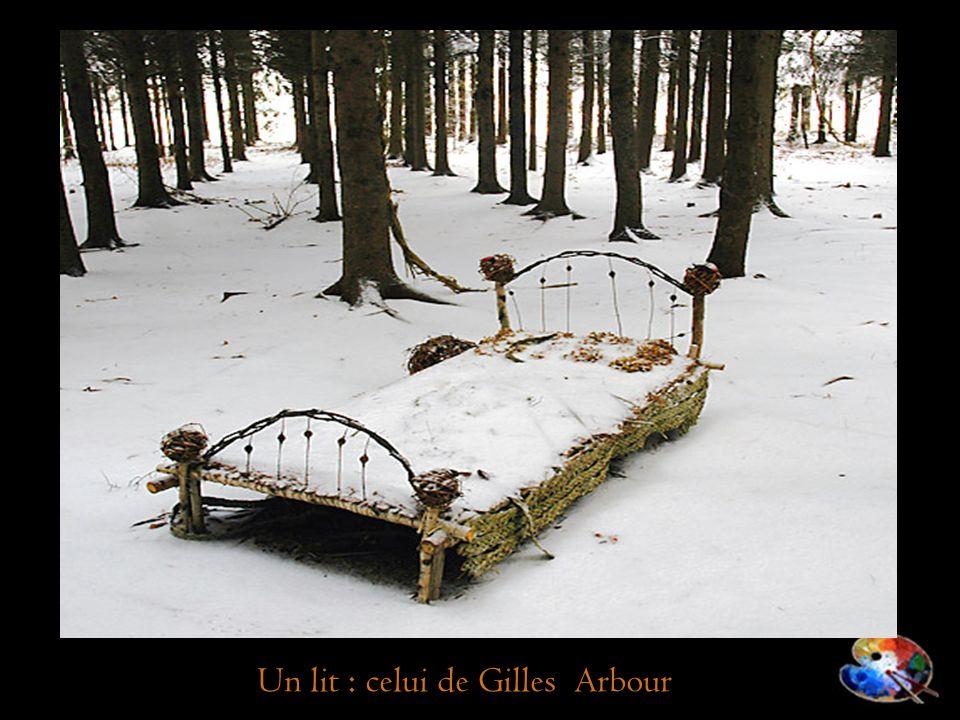 Un lit : celui de Gilles Arbour