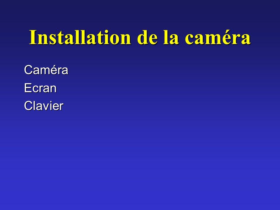 Installation de la caméra CaméraEcranClavier