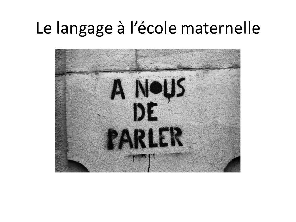 Le langage à lécole maternelle