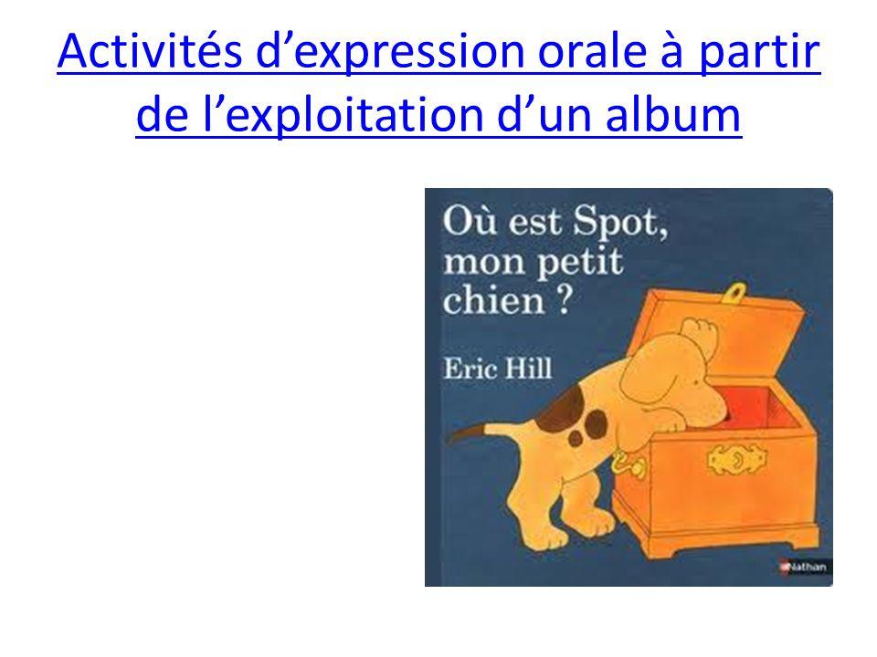 Activités dexpression orale à partir de lexploitation dun album