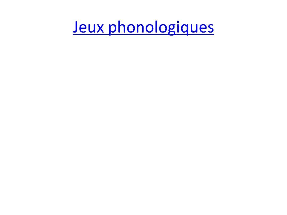 Jeux phonologiques