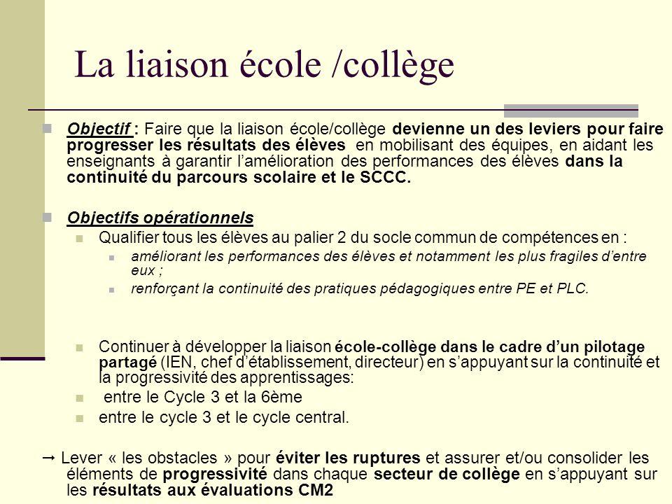 Les thématiques des réunions inter-degré Des projets : Certains sont largement engagés dans le cadre de la liaison école/collège Construction de parcours linguistiques inter degrés.