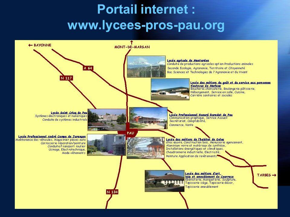 Portail internet : www.lycees-pros-pau.org