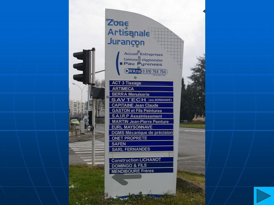 Lycée Plan ZA 1 de Jurançon 1 8 6 5 4 3 2 13 7 9 12 10 11 14 15