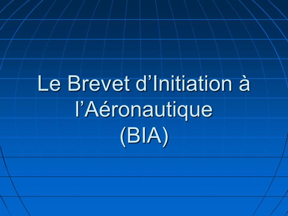 Le Brevet dInitiation à lAéronautique (BIA)
