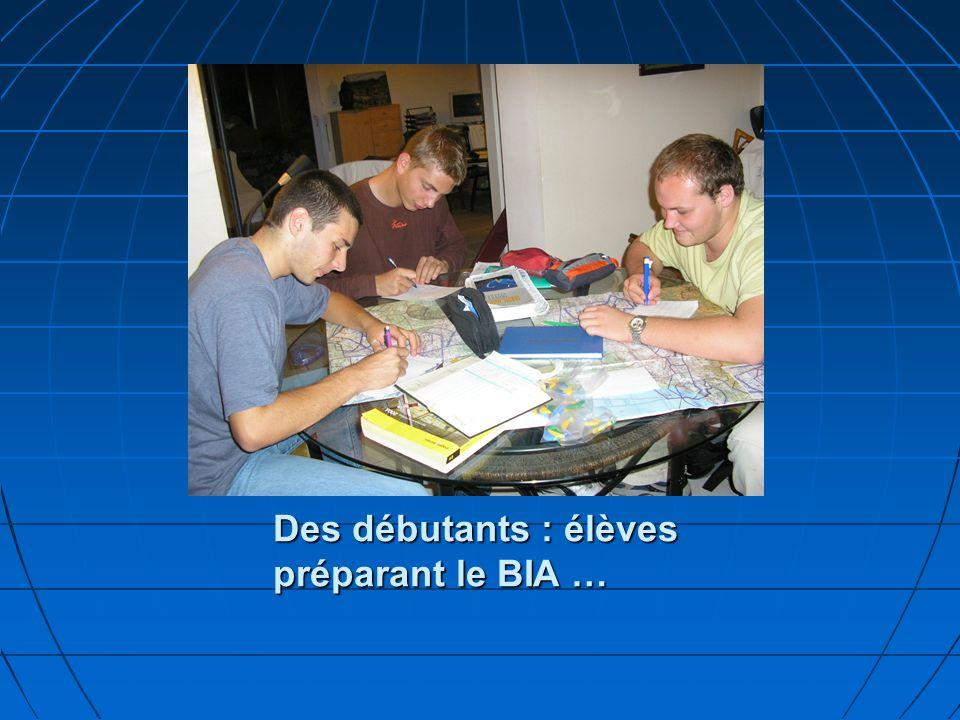 Des débutants : élèves préparant le BIA …