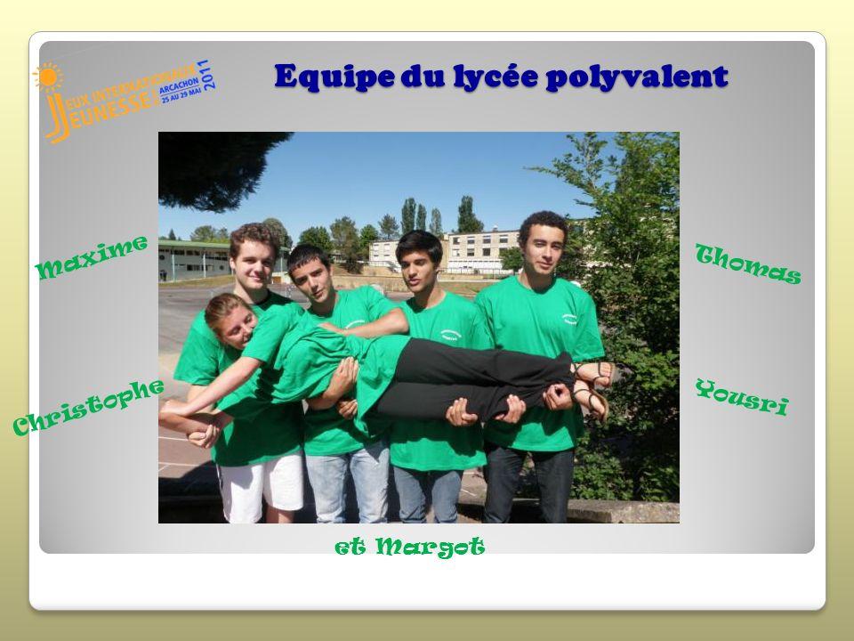 Equipe du lycée polyvalent Maxime Christophe Thomas Yousri et Margot