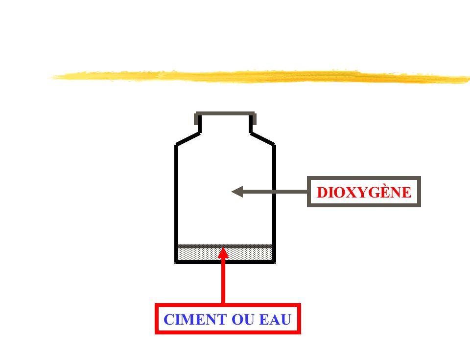 CIMENT OU EAU DIOXYGÈNE
