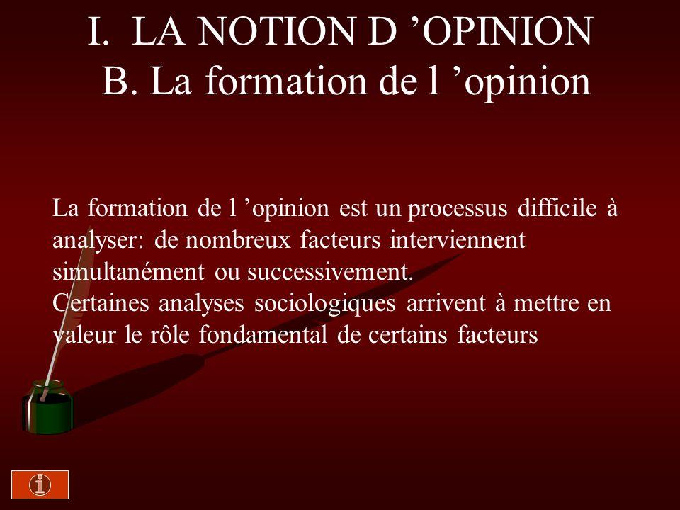 I. A. 3- L opinion publique b) examen critique Doc. 4 : Manuel -Texte n° 6 de J. Lagroye, p. 395