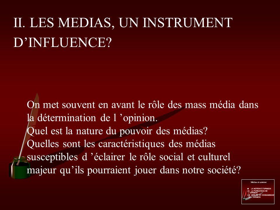 LES MEDIAS, UN INSTRUMENT DINFLUENCE? Tableau de John Paul Genzo