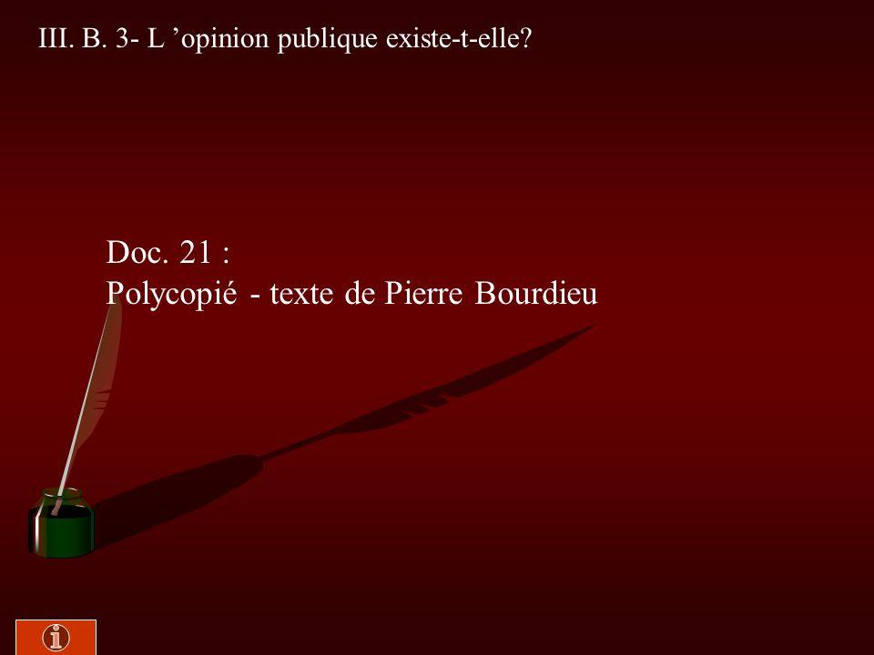 III. B. 2- Les manipulations des sondages Doc. 20 : Manuel -Texte n° 14 de Pierre Martin, p. 401