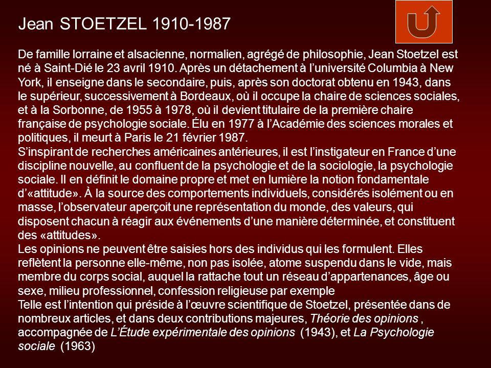 Jean STOETZEL 1910-1987