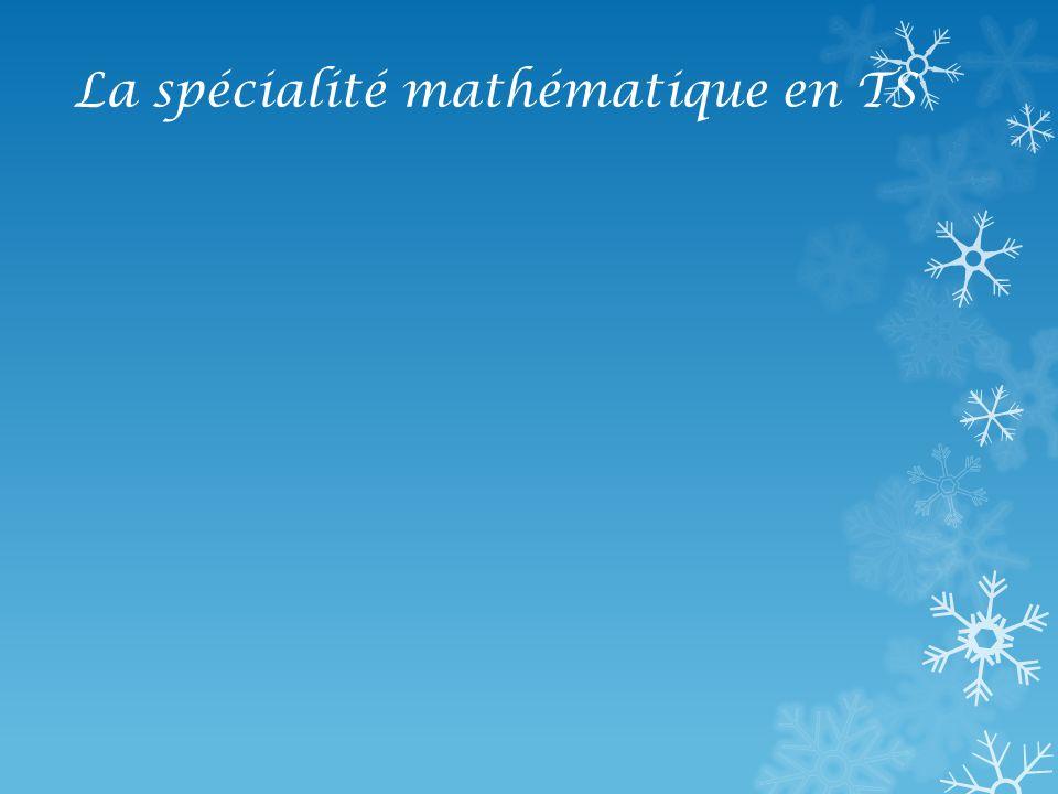 La spécialité mathématique en TS Matrices et suites : exemples de problème : Numériser une image Cest-à-dire Transformer limage en une suite de 0 et de 1.