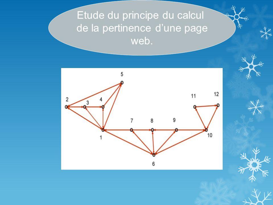 Etude du principe du calcul de la pertinence dune page web.