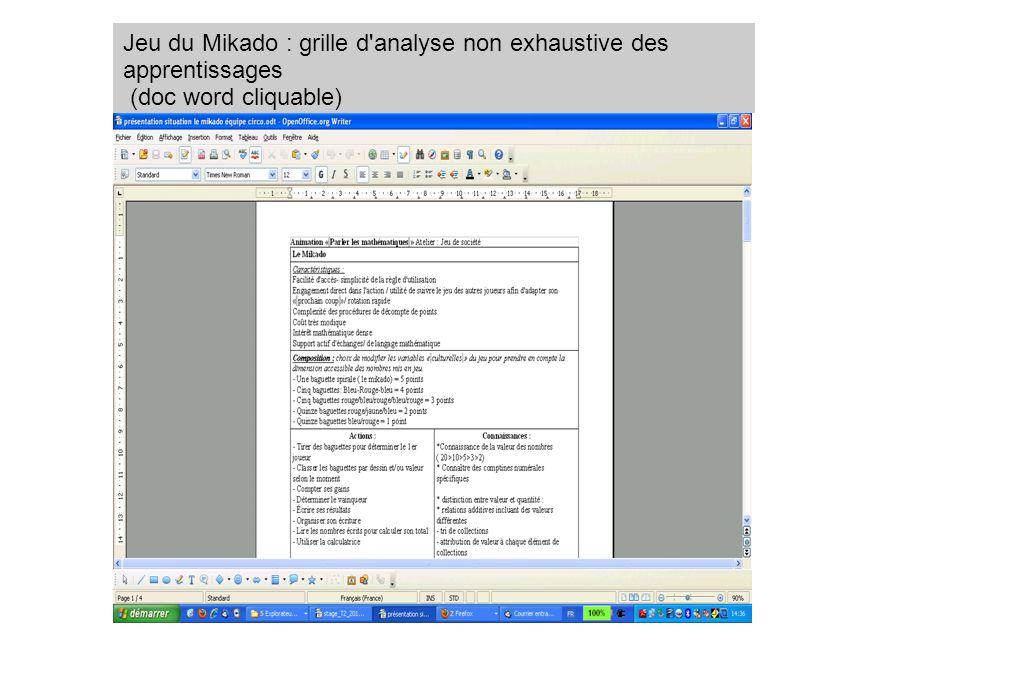 Jeu du Mikado : grille d'analyse non exhaustive des apprentissages (doc word cliquable)