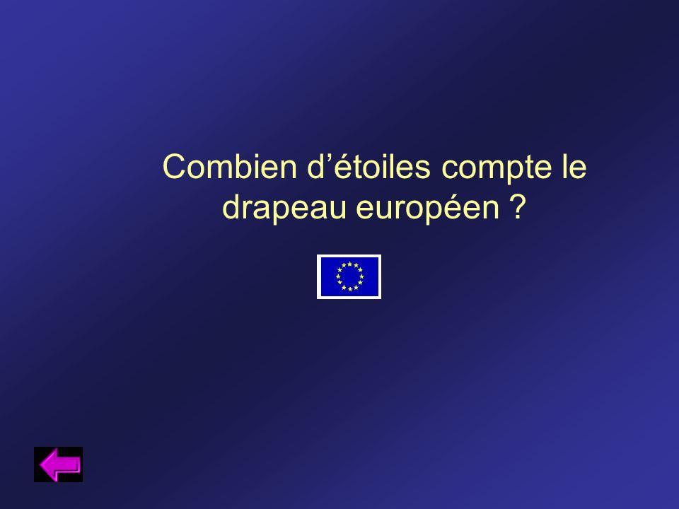 Combien détoiles compte le drapeau européen ?